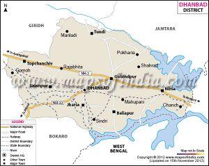 Dhanbad Jatland Wiki - Dhanbad map