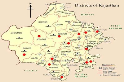 Buy Rajasthan Tourist Map